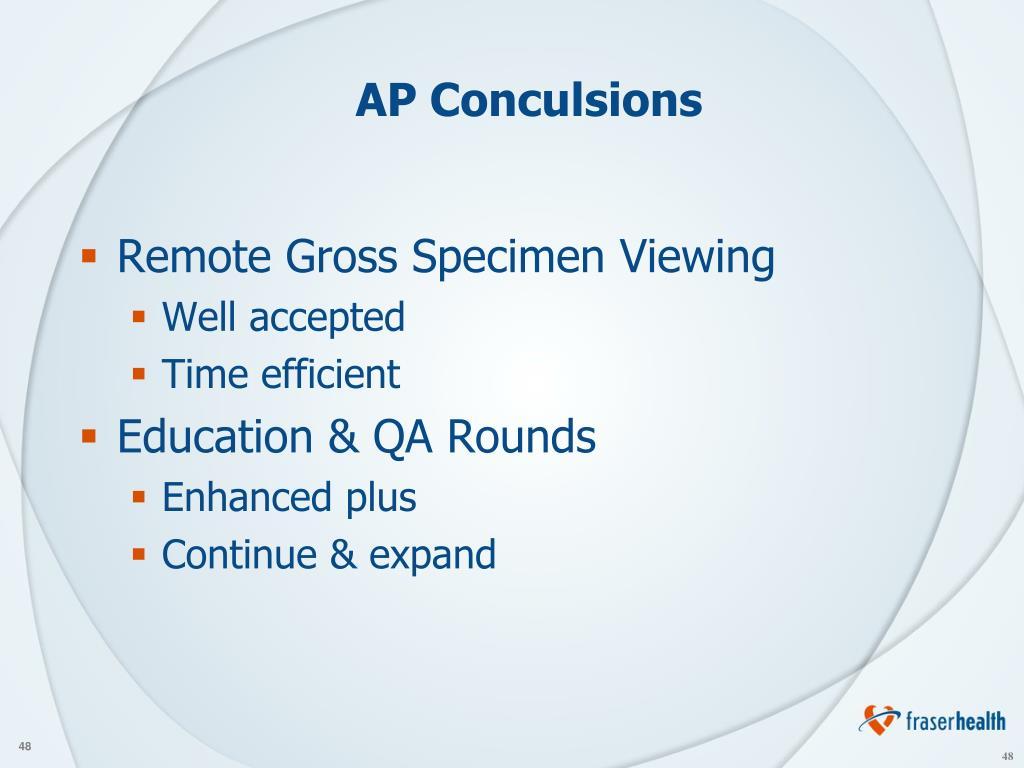 AP Conculsions