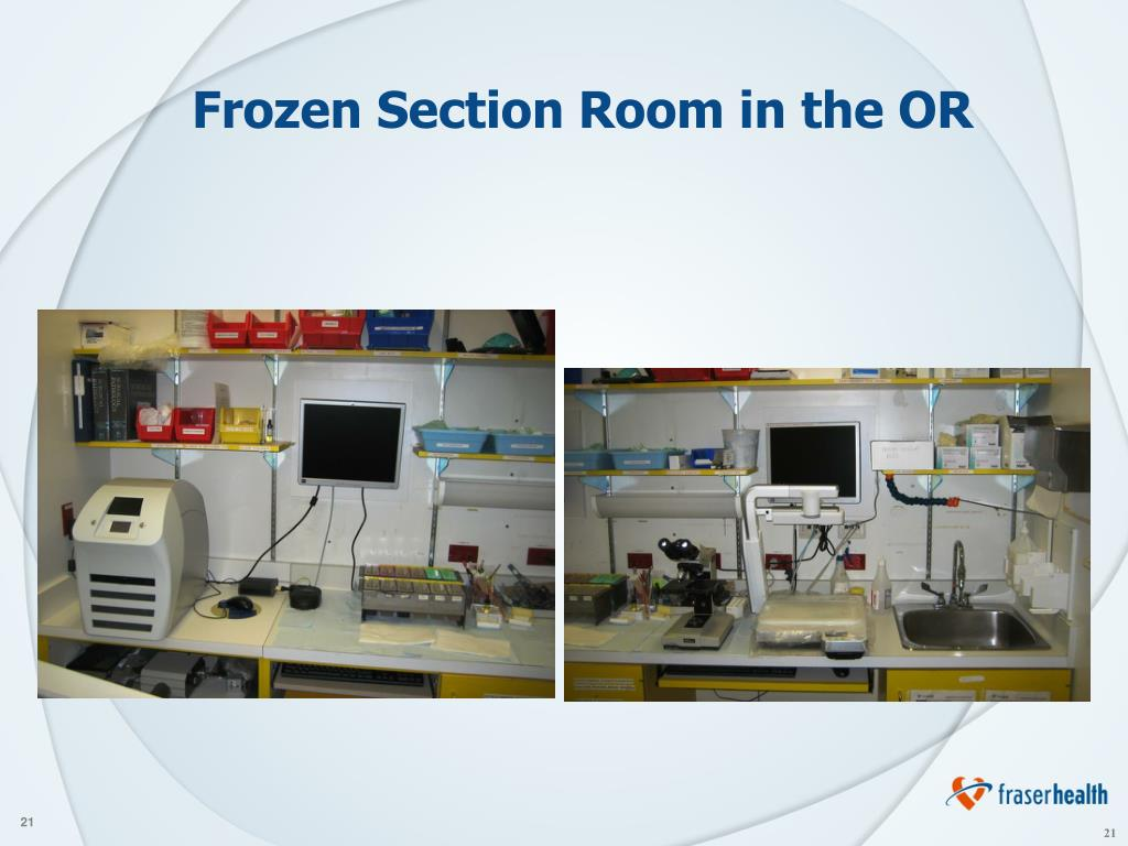 Frozen Section Room in the OR