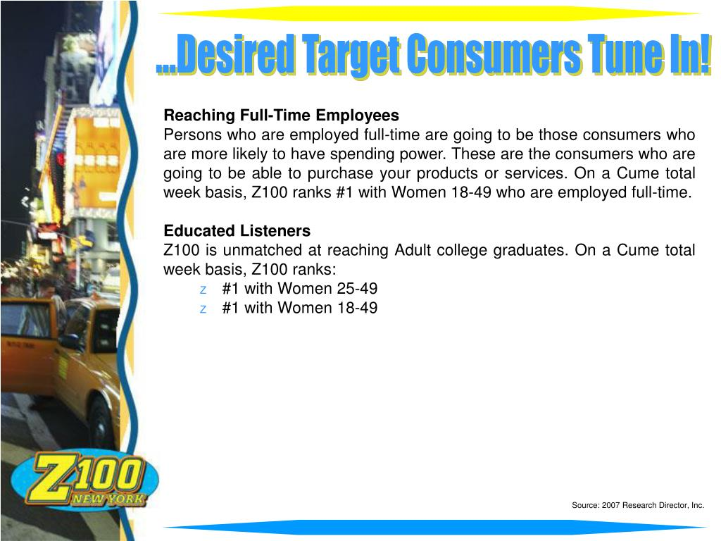 ...Desired Target Consumers Tune In!