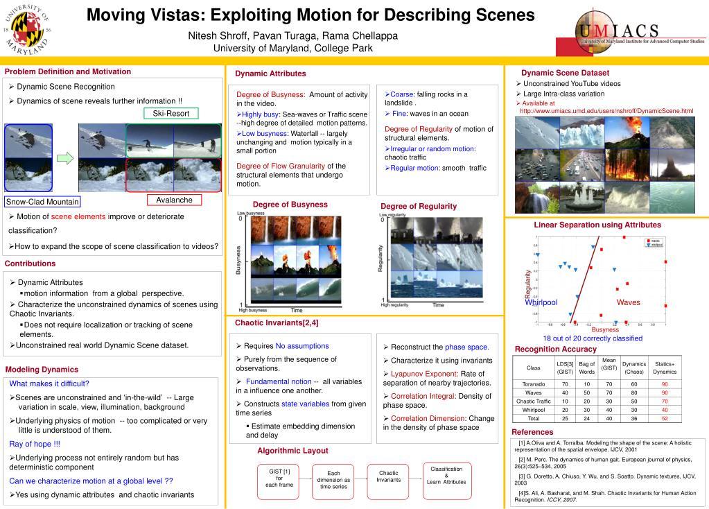 Moving Vistas: Exploiting Motion for Describing Scenes