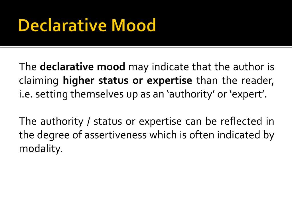 Declarative Mood