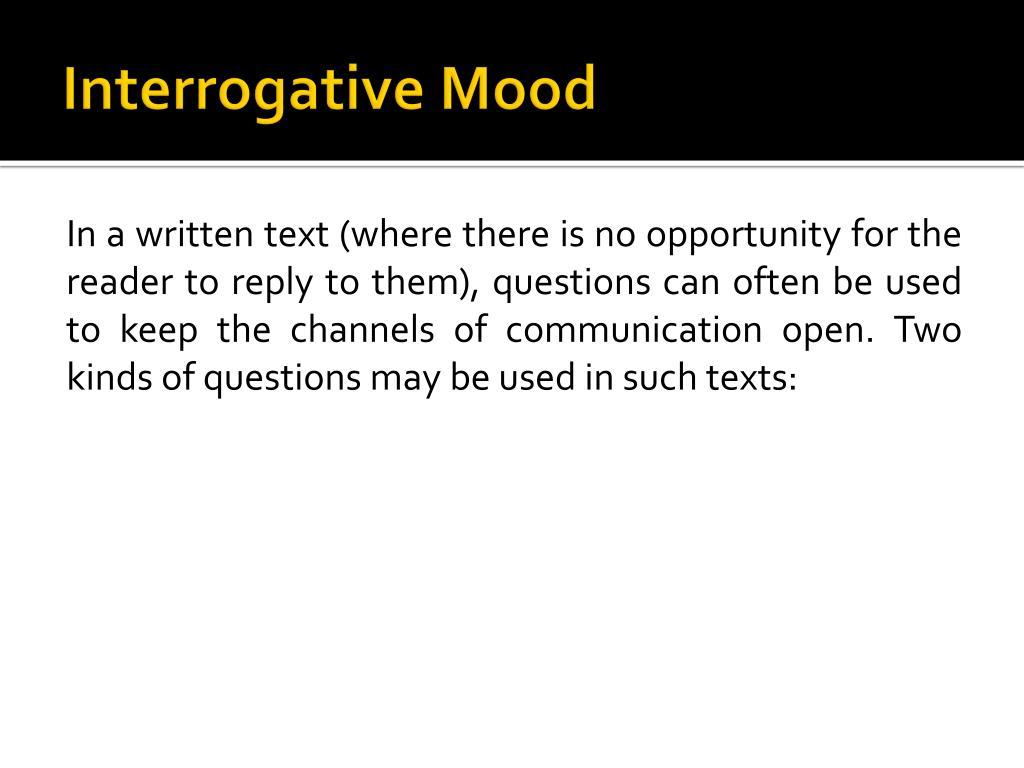 Interrogative Mood