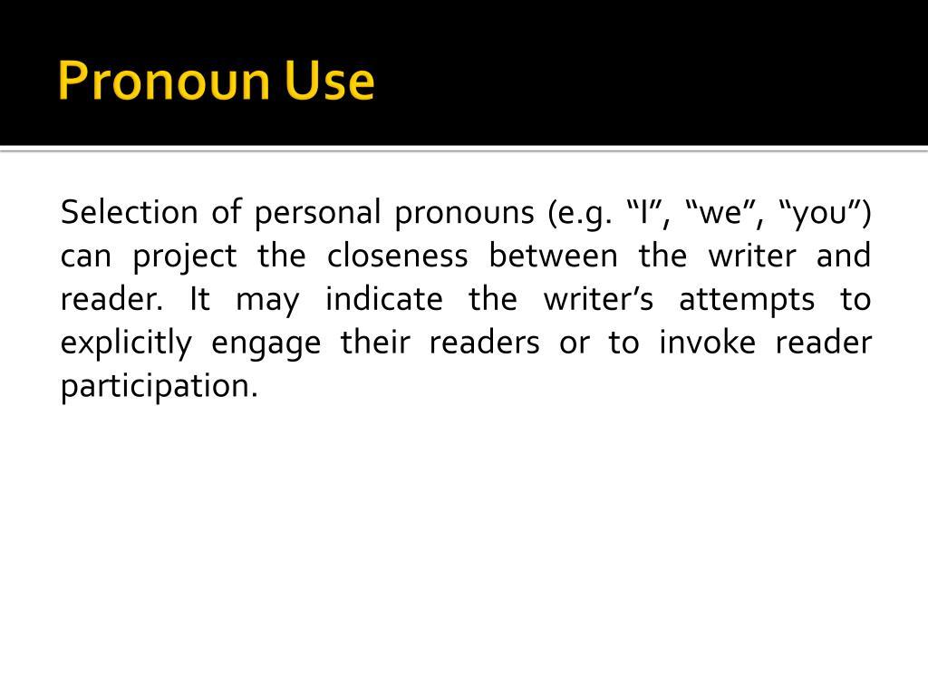 Pronoun Use