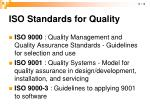 iso standards for quality