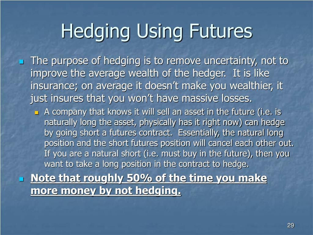 Hedging Using Futures