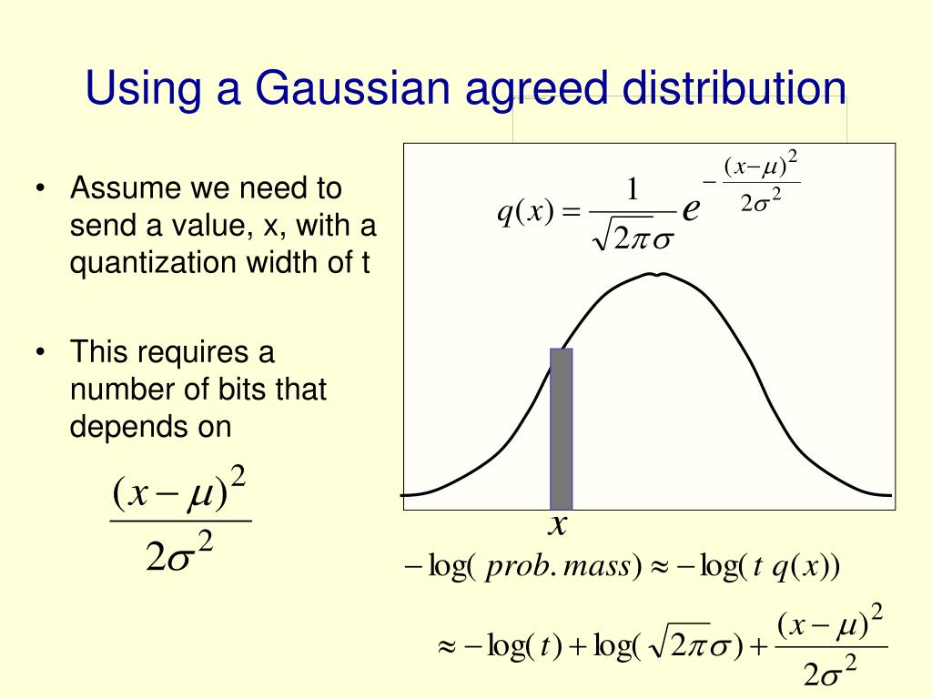 Using a Gaussian agreed distribution