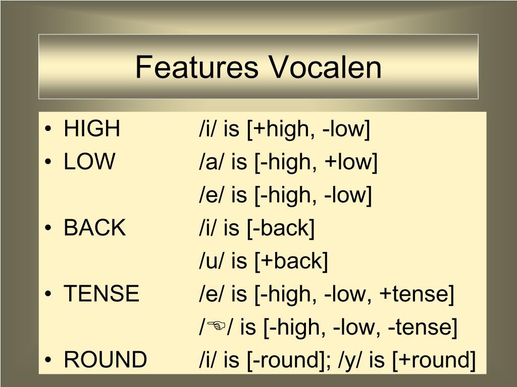Features Vocalen