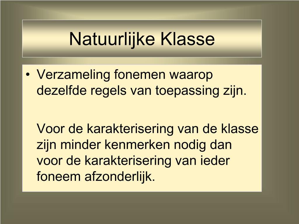 Natuurlijke Klasse
