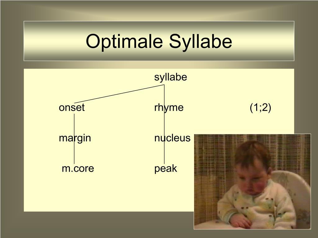 Optimale Syllabe