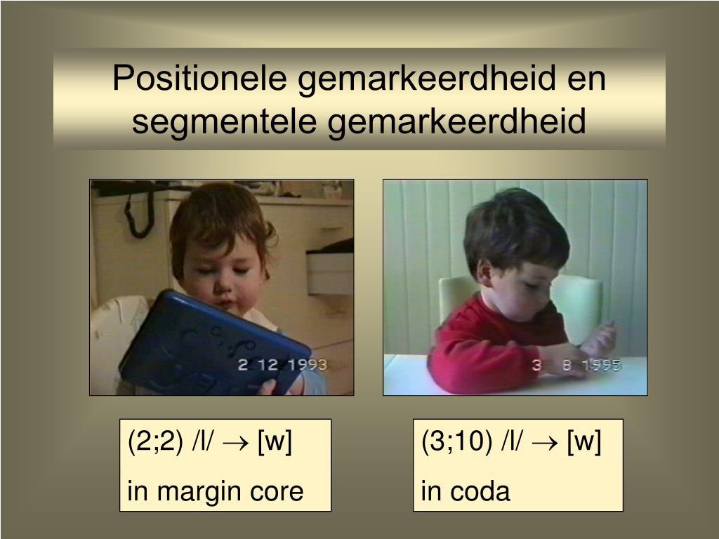 Positionele gemarkeerdheid en segmentele gemarkeerdheid