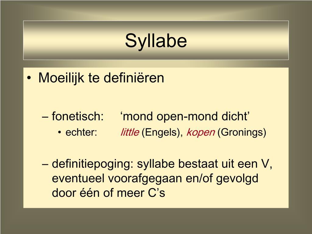 Syllabe