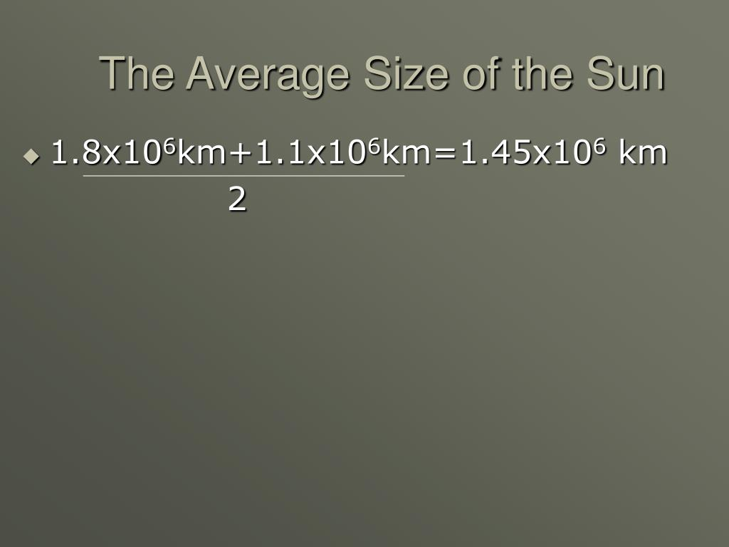 The Average Size of the Sun