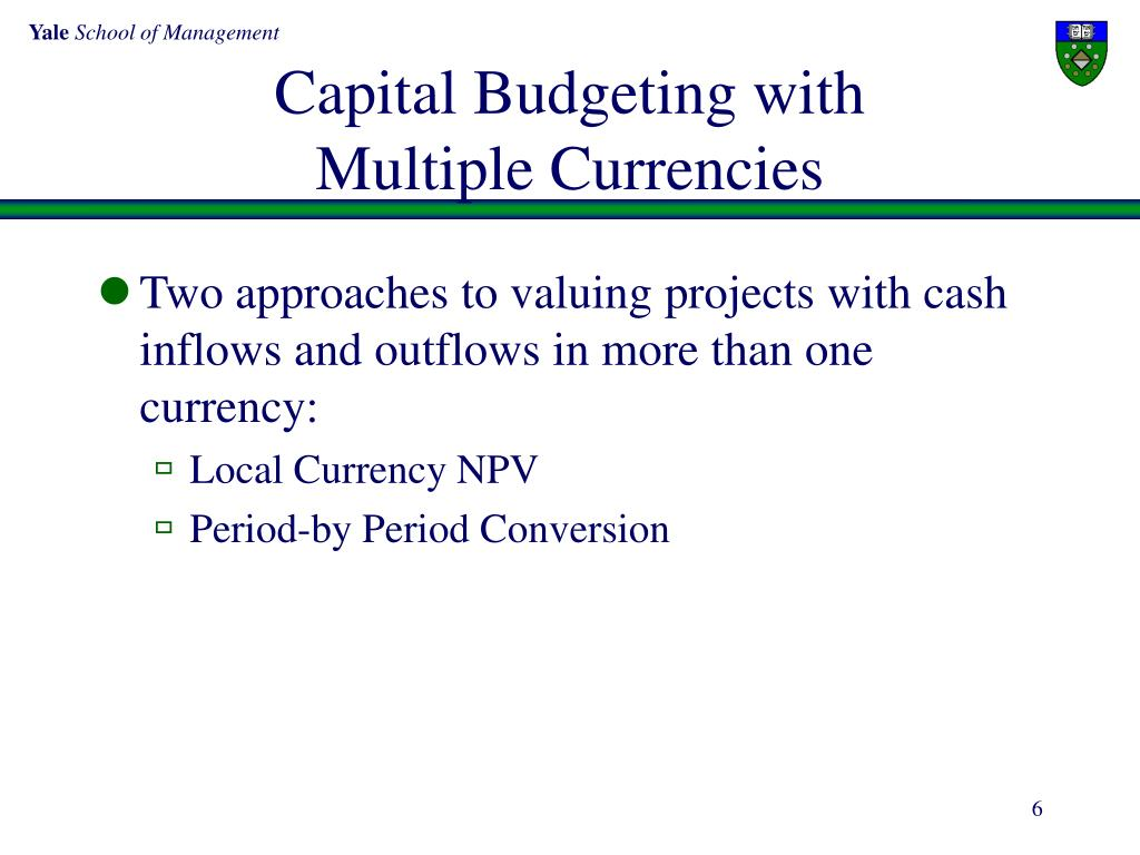 Capital Budgeting with