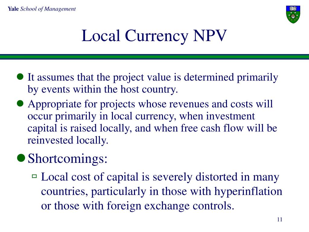 Local Currency NPV