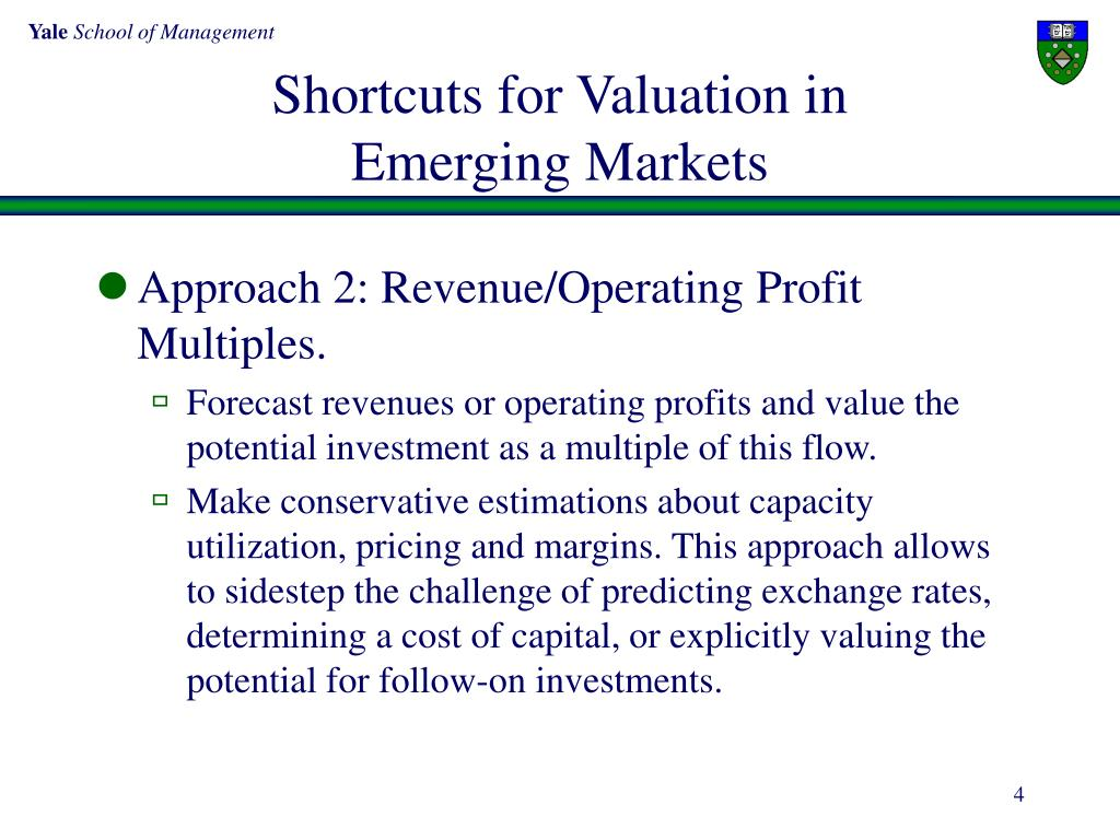 Shortcuts for Valuation in