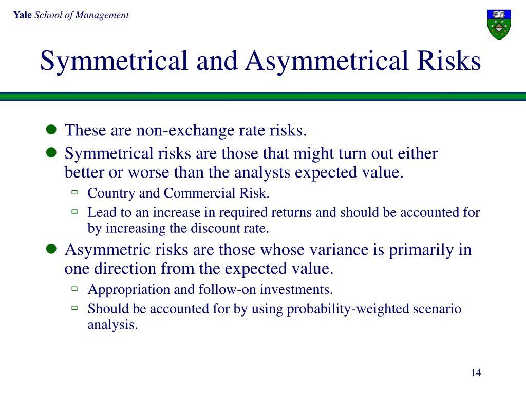 Symmetrical and Asymmetrical Risks