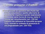 il diritto primario i trattati