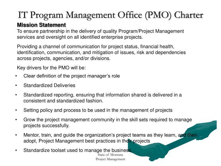 It program management office pmo charter