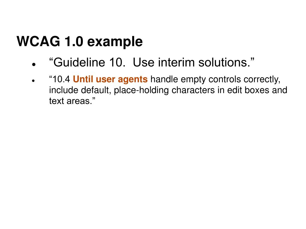 WCAG 1.0 example