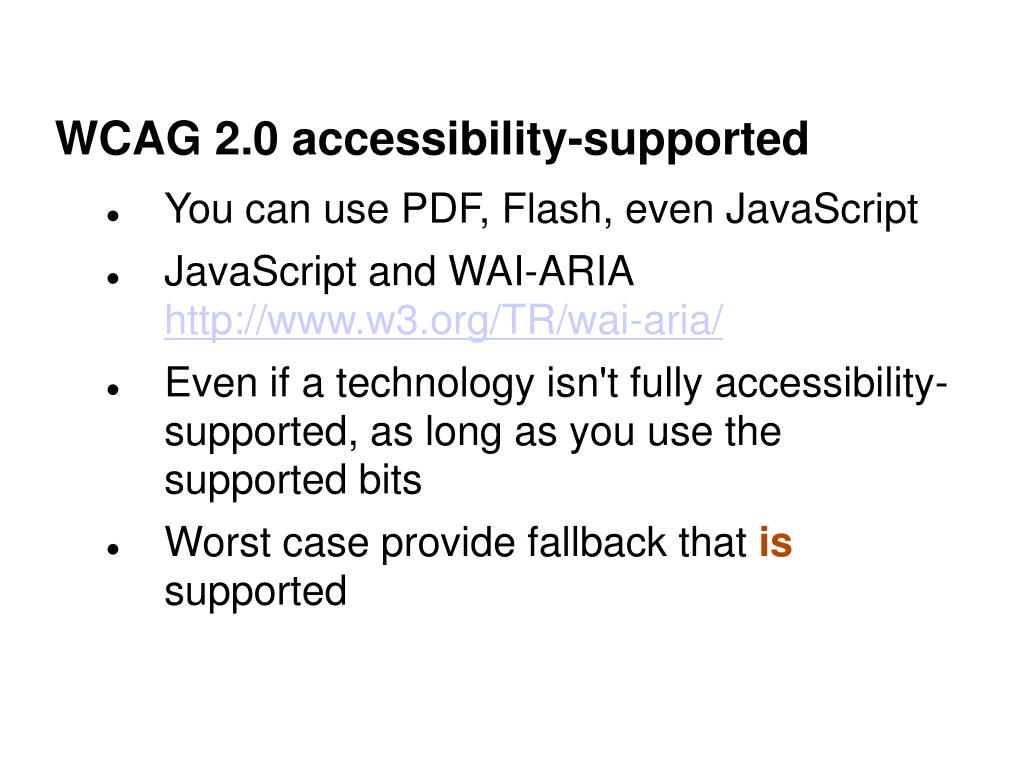WCAG 2.0 accessibility-supported
