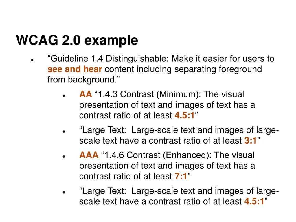 WCAG 2.0 example
