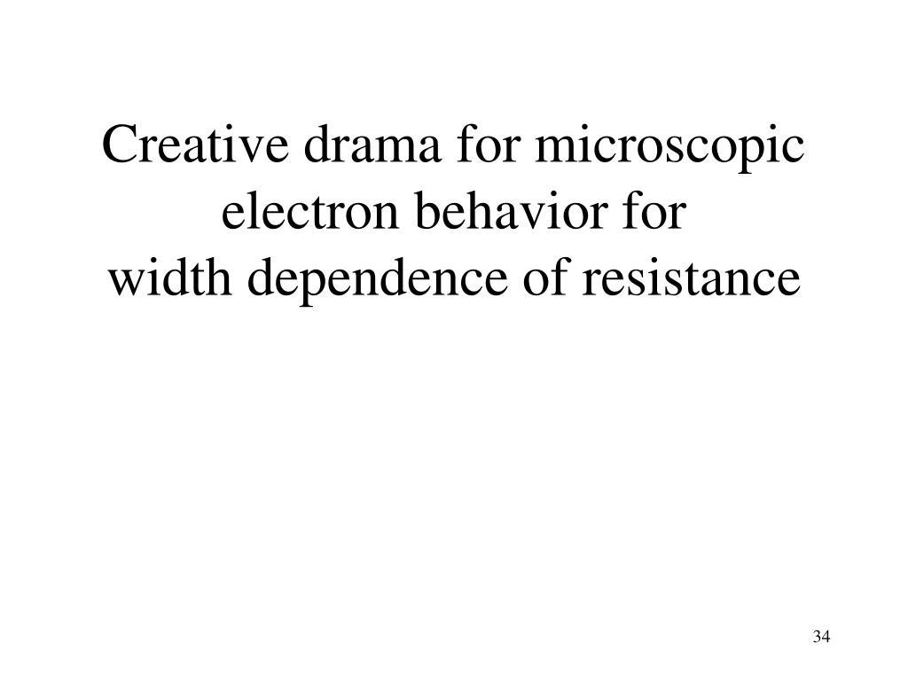 Creative drama for microscopic electron behavior for