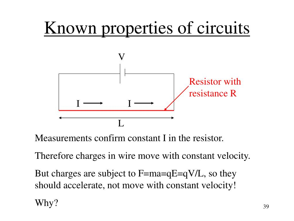 Known properties of circuits