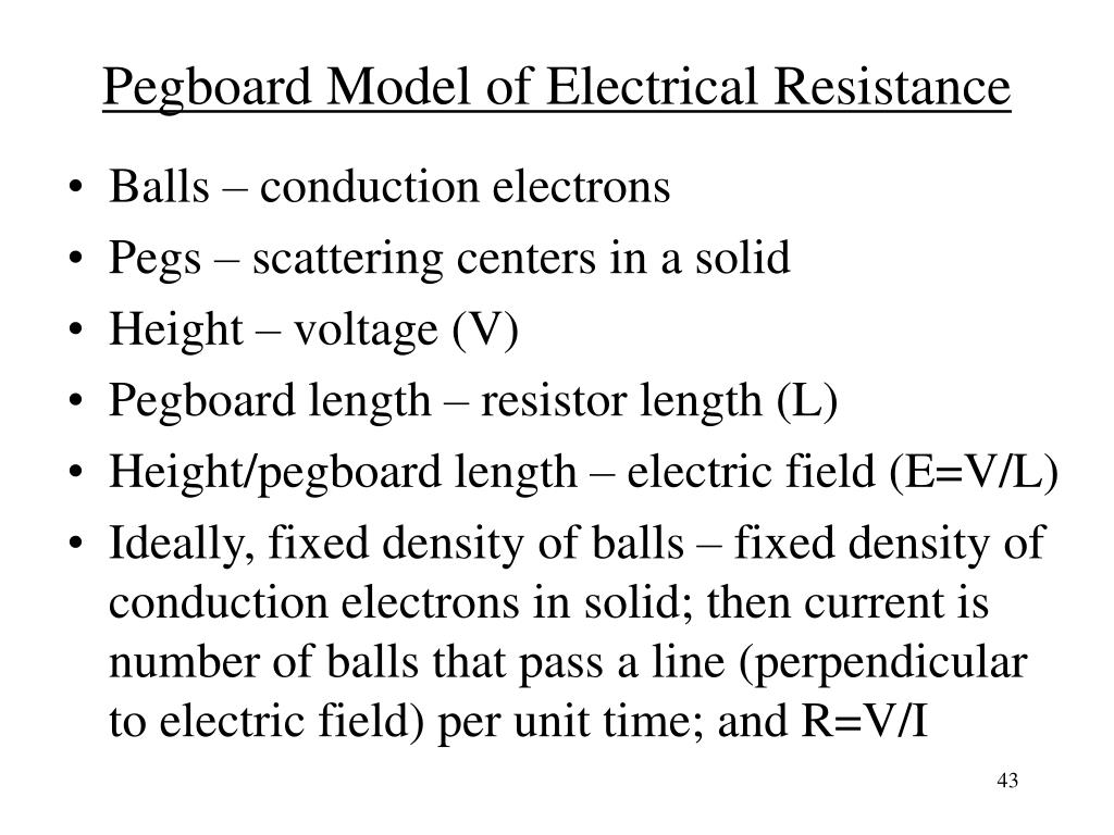 Pegboard Model of Electrical Resistance