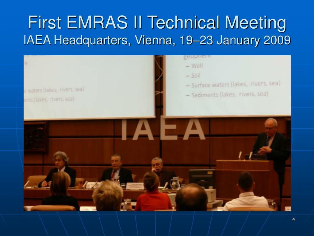 First EMRAS II Technical Meeting
