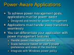 power aware applications