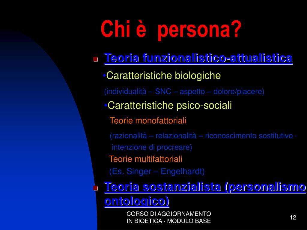 Chi è  persona?