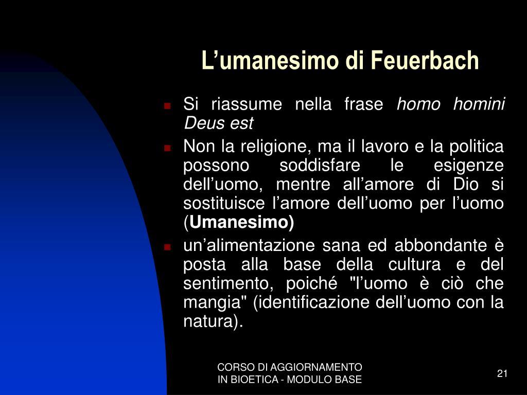 L'umanesimo di Feuerbach