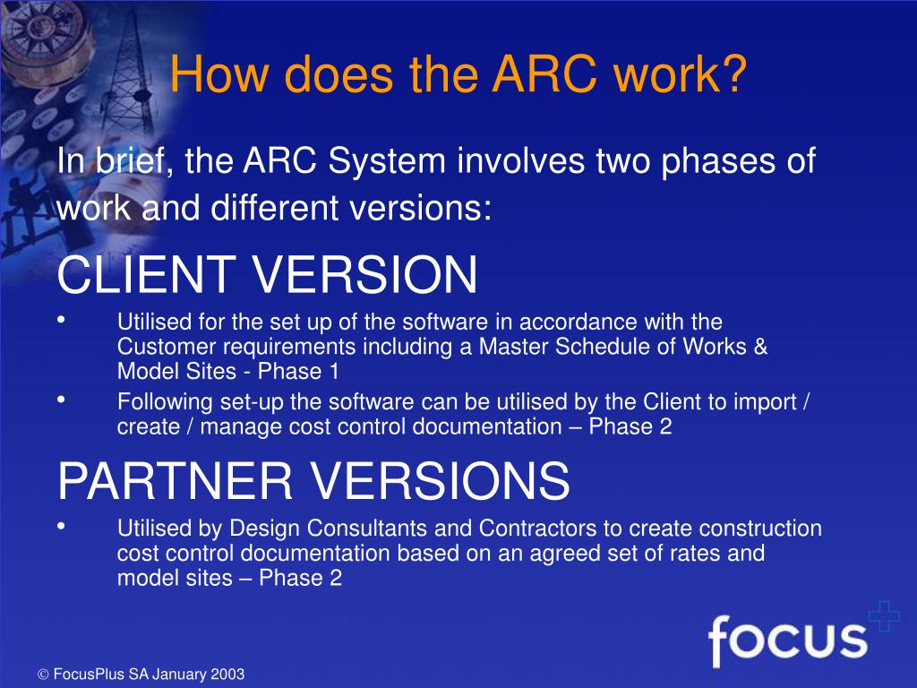 How does the ARC work?