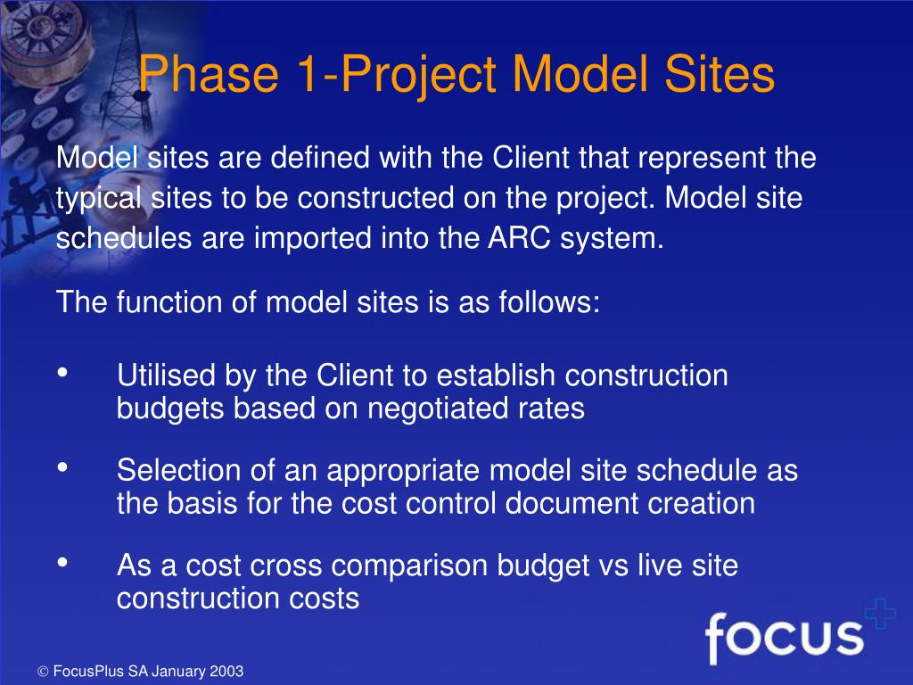 Phase 1-Project Model Sites