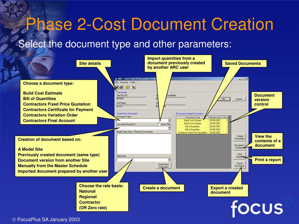 Phase 2-Cost Document Creation