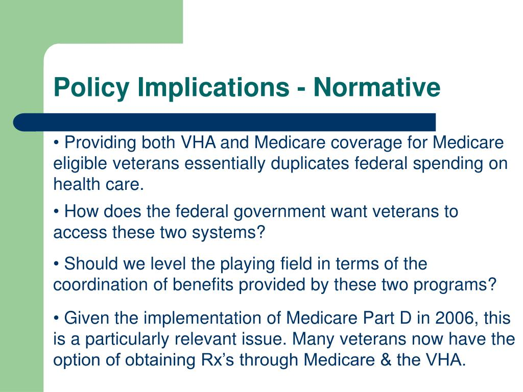 Policy Implications - Normative