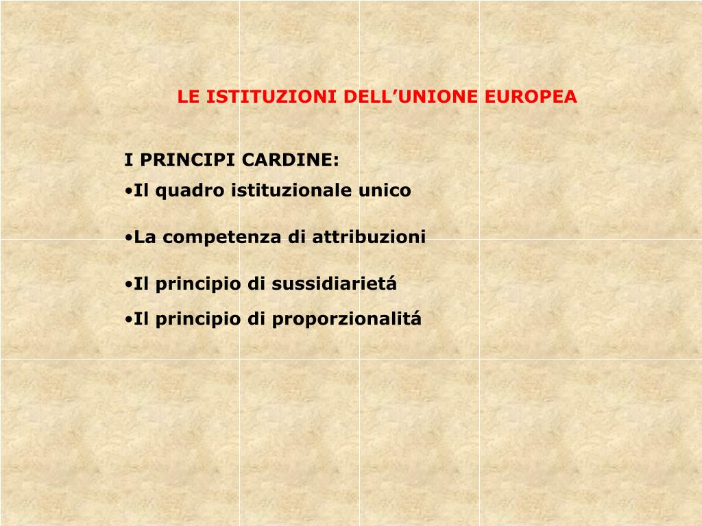 LE ISTITUZIONI DELL'UNIONE EUROPEA