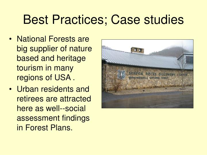 Best Practices; Case studies
