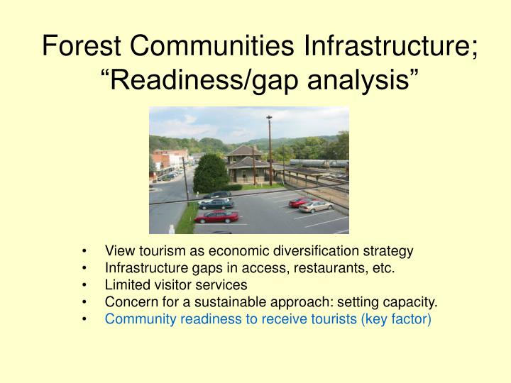 "Forest Communities Infrastructure; ""Readiness/gap analysis"""