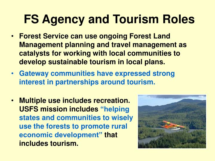 FS Agency and Tourism Roles