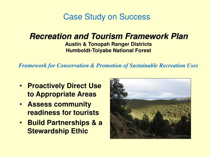 Recreation and Tourism Framework Plan