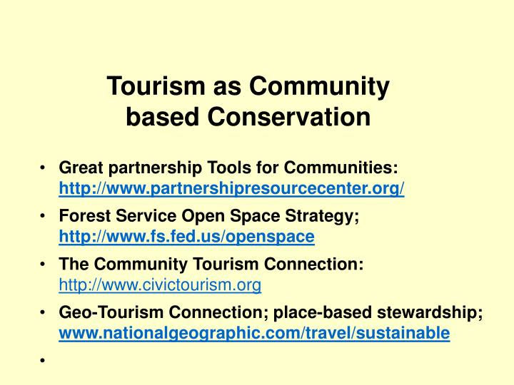 Tourism as Community