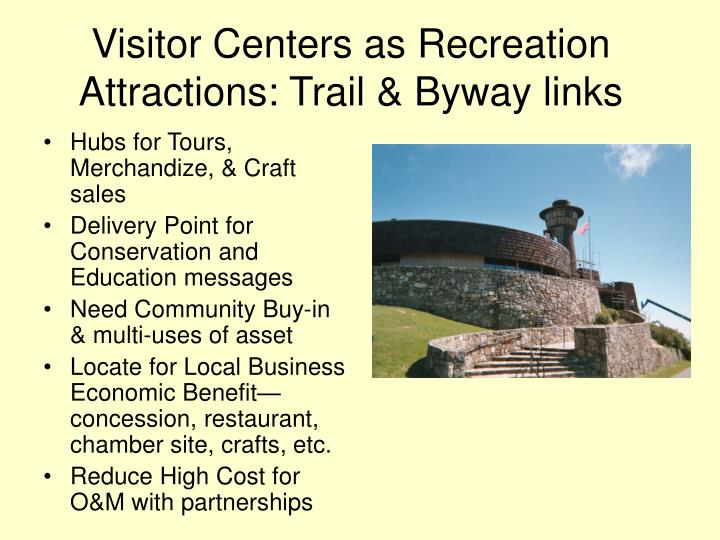 Visitor Centers as Recreation Attractions: Trail & Byway links