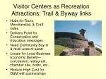 visitor centers as recreation attractions trail byway links