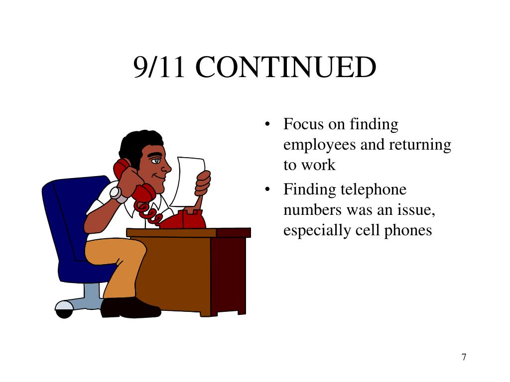 9/11 CONTINUED