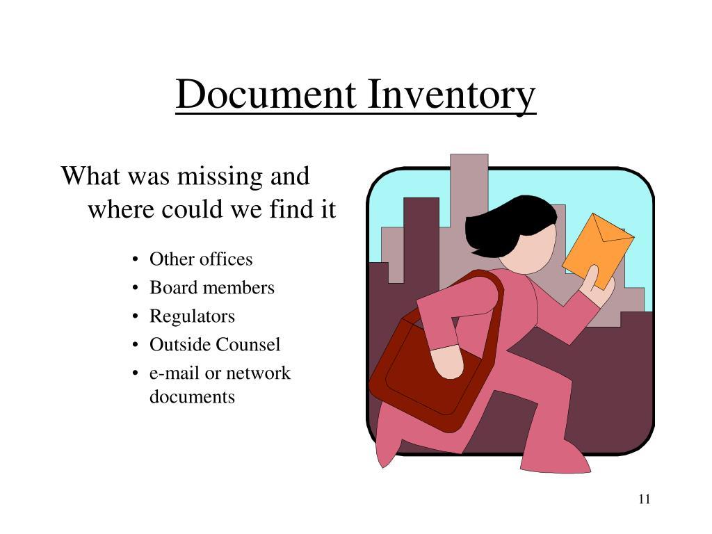 Document Inventory