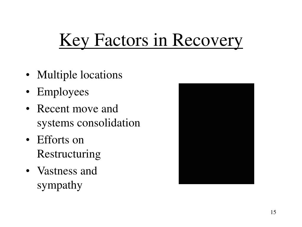 Key Factors in Recovery
