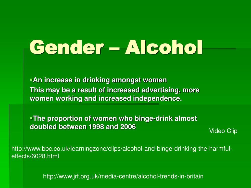 Gender – Alcohol