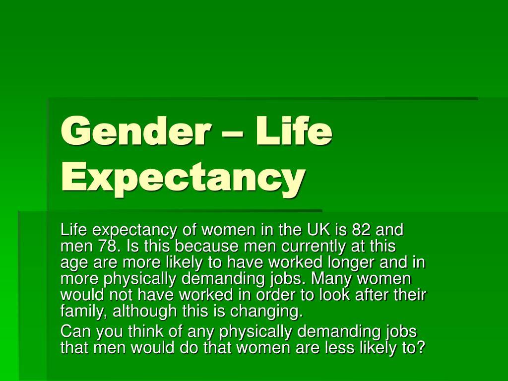 Gender – Life Expectancy