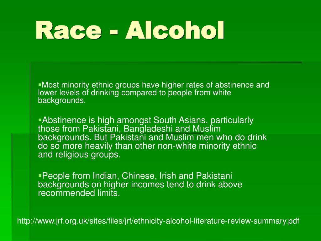 Race - Alcohol
